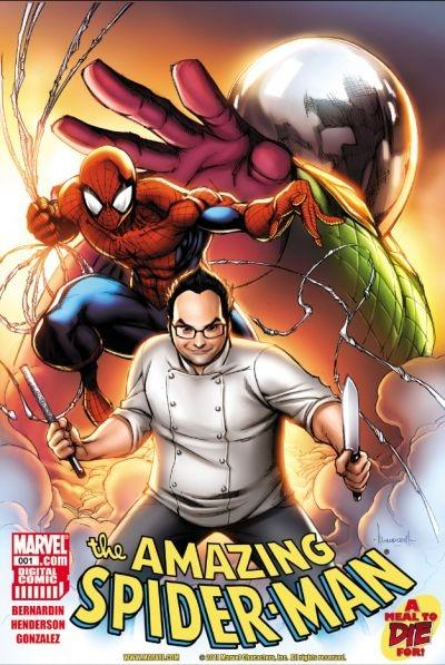 The latest Spider-Man features a fomer 'Top Chef: Las Vegas' contestant.