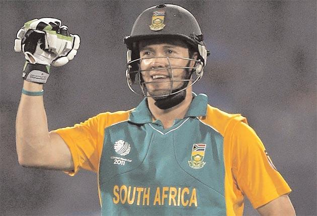 AB De Villiers has scored centuries in both of South Africa's World Cup matches so far