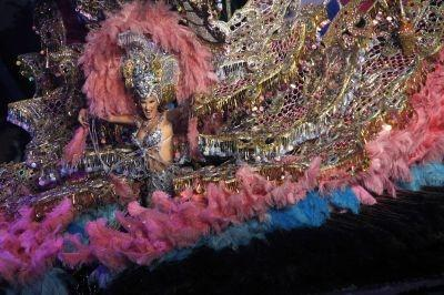 A nominee for Queen of the Santa Cruz carnival in Tenerife