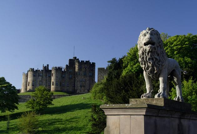 Prime location: The Harry Potter films more than doubled visitor numbers to Alnwick Castle