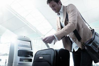 Qantas passengers using the system must tag luggage themselves
