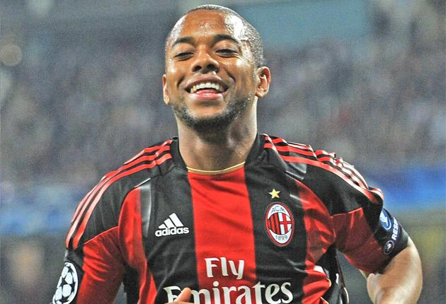 The smile has returned to Robinho's face after his 10 goals in 25 Serie A games for Milan this season