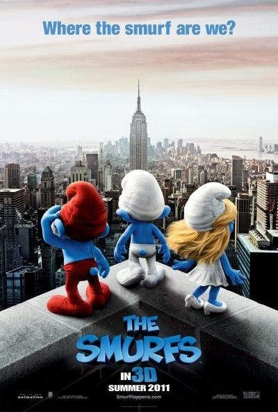 'The Smurfs' landed in the top spot for the second consecutive week.