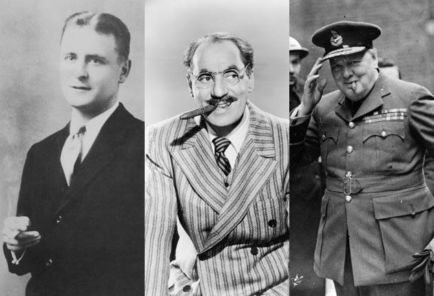Ashtrays overflowing: Fitzgerald, Marx and Churchill