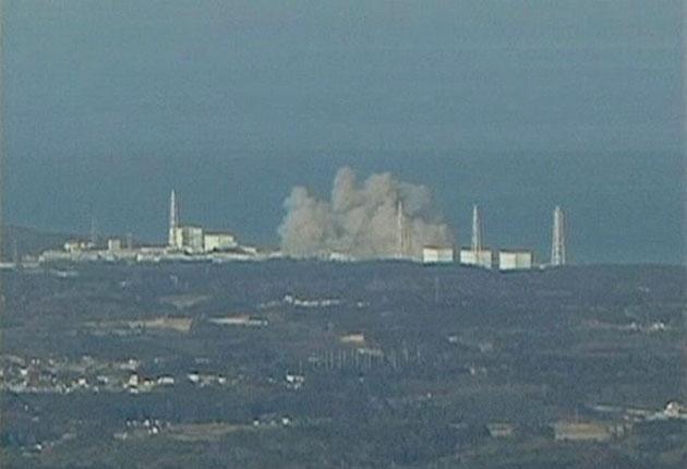 In this video image taken from NTV Japan via APTN, smoke raises from Fukushima Daiichi power plant's Unit 1 in Okumamachi