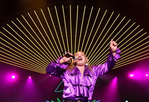 Tat's Showbiz: Wagner sings at the X Factor Live Tour at Wembley