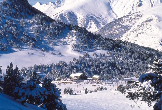 Soldeu, the highest resort in the Grandvalira and one of its sunniest - the name means Sun God in Catalan