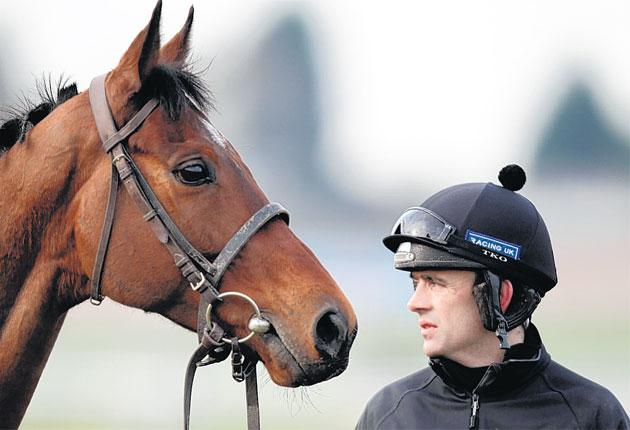 Ruby Walsh with Hurrican Fly, who finally gets his Cheltenham chance after two years of setbacks