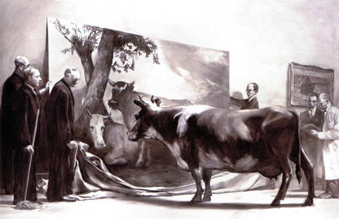 The ownership of Mark Tansey's The Innocent Eye Test is in dispute
