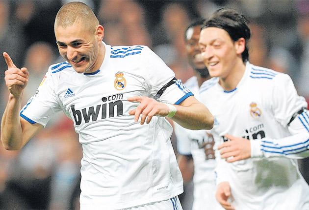 Karim Benzema has been in fine form for Real of late, scoring eight goals in his last six games