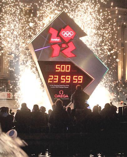 The Omega 2012 countdown clock in London