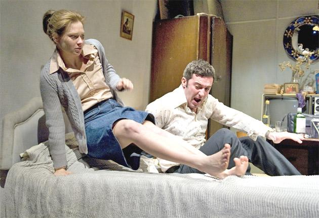 Room at the top: Sian Brooke and Daniel Coonan in 'Ecstasy'