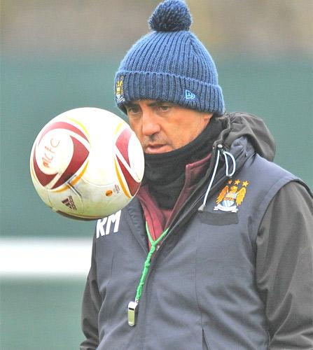 Roberto Mancini said that his side had to defend better tonight than in the first leg