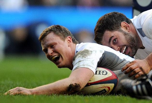 Chris Ashton (left) will always raise a smile while Nick Easter is imbued with a natural confidence
