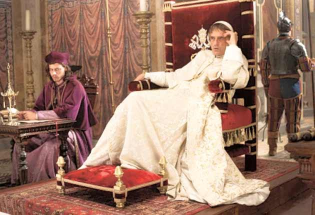 When in Rome: Jeremy Irons stars in the costume drama 'The Borgias'