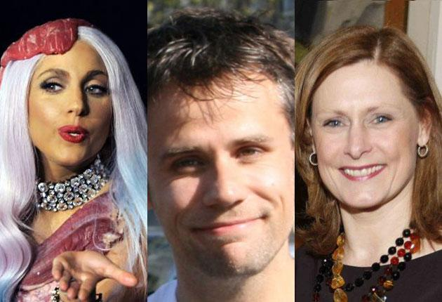 Some influential tweeters: Lady Gaga, Richard Bacon and Sarah Brown