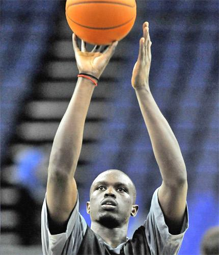 The Chicago Bulls forward Luol Deng will lead Great Britain against the US Olypmic team