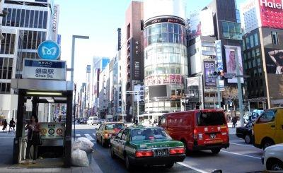 Tokyo's Ginza district on March 17