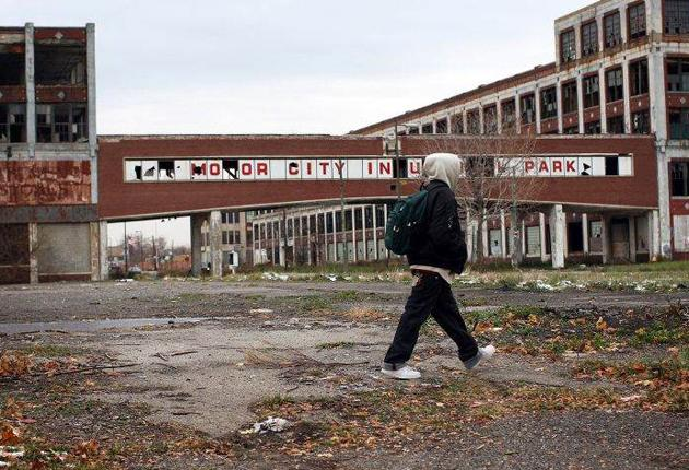 A decline in the car industry has seen large parts of Detroit abandoned