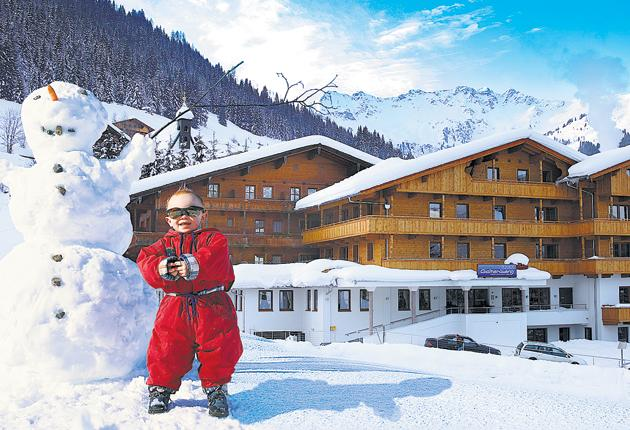 Me and my man: The Galtenburg in Alpbach is one of 33 independent Alpine hotels under the Kinderhotels umbrella that have been judged to have high childcare standards