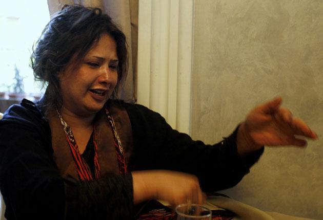 Eman al-Obaidi pleaded for help in a Tripoli hotel