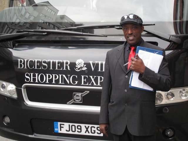 Super shopper: Abda Hassan and Britain's premium-economy bus service