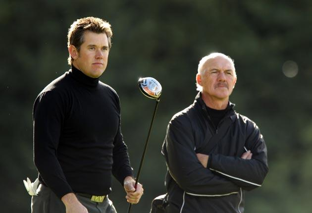 Lee Westwood working with Pete Cowen. 'I'm positive he's got a major in him,' Cowen said of the former World No 1. 'No doubt at all'