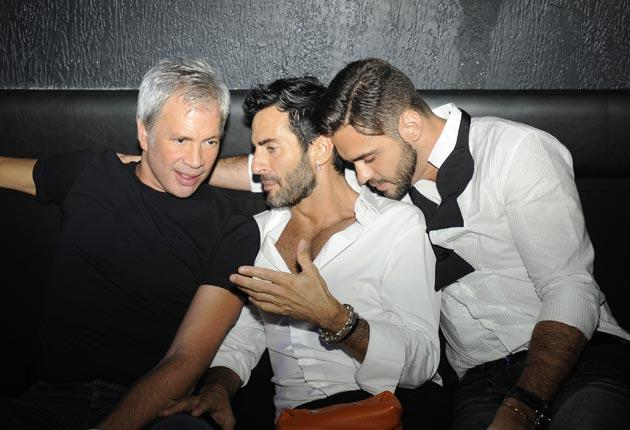 Left to right: Robert Duffy, Marc Jacobs and ex-partner Lorenzo Martone at a 2009 party in Sao Paulo, Brazi