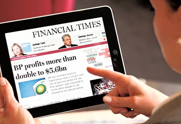 Money talks: The FT announced figures of 210,00 subscribers, all paying a minimum of £250 a year
