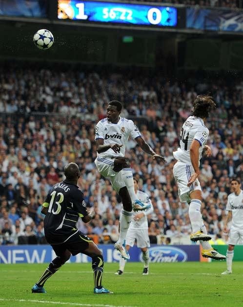 Adebayor nods in his and Real's second of the match