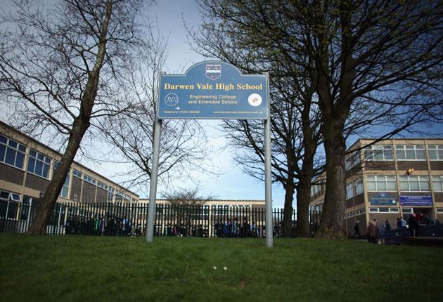 Darwen Vale High School where teachers are striking over pupil discipline