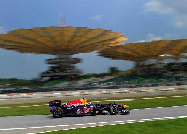 Webber went fastest in today's practice