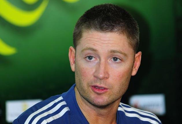 Michael Clarke is in confident mood having taken over from Ricky Ponting
