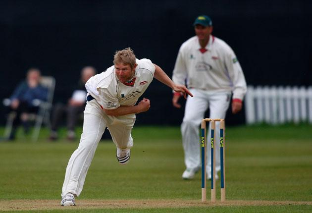 A hat-trick from Leicestershire captain Matthew Hoggard put Glamorgan on the back foot in their Division Two match at Grace Road