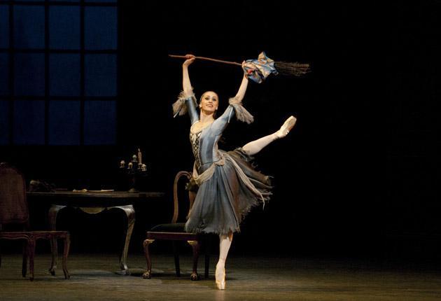 Broom and bust: Mariañela Nunez stars in 'Cinderella'