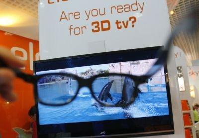 Special glasses for 3D TV at MIPCOM market, on October 5, 2009 in Cannes, France