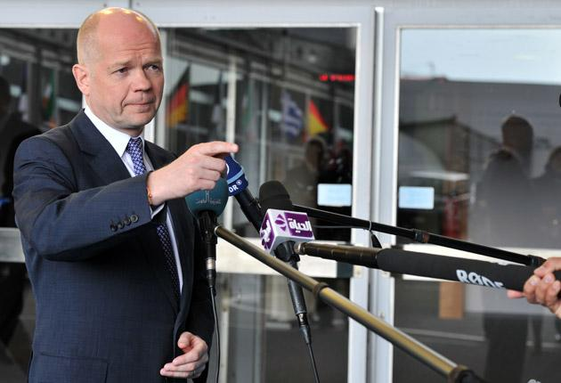 Foreign Secretary William Hague signalled that the UK is stepping up its help for Libyan rebels tonight after international talks on the crisis