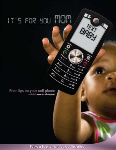 Promotional poster for text4baby