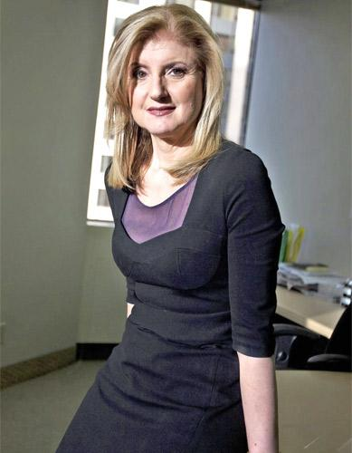 Arianna Huffington, co-founder and editor-in-chief of the 'The Huffington Post'