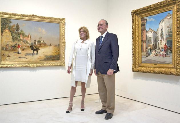 The baroness and Malaga's Mayor Francisco de la Torre