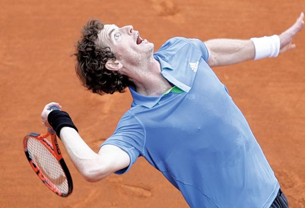 Andy Murray was in fine form in Monaco yesterday, much to the displeasure of the locals