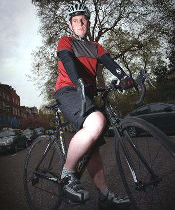 David Prosser has been knocked off his bike - and recently helped a cyclist who had been injured by a lorry