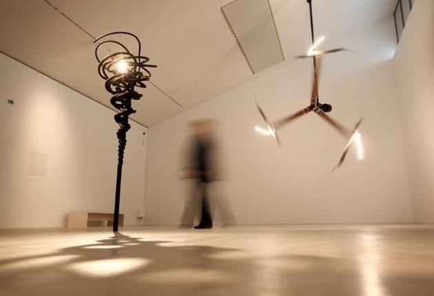 An installation by Conrad Shawcross on display at the new Turner Contemporary gallery