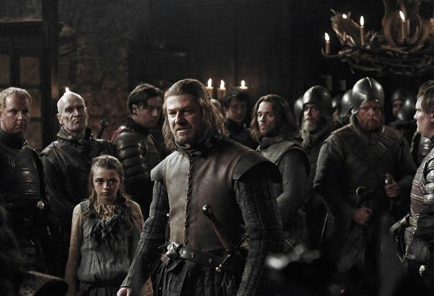 Wild World: Sean Bean (centre) stars in the TV series of George R R Martin's Game of Thrones