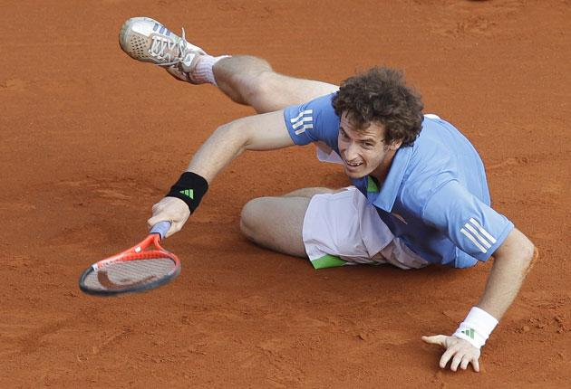 Andy Murray gives it his all in defeat against Rafael Nadal