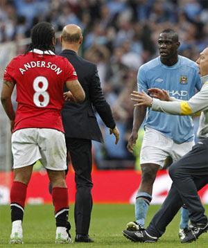 Mario Balotelli caused the post-match fracas