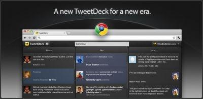TweetDeck Twitter client on Google Chrome