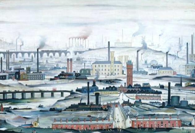 LS Lowry's Industrial Landscape - his only work to be displayed by the Tate
