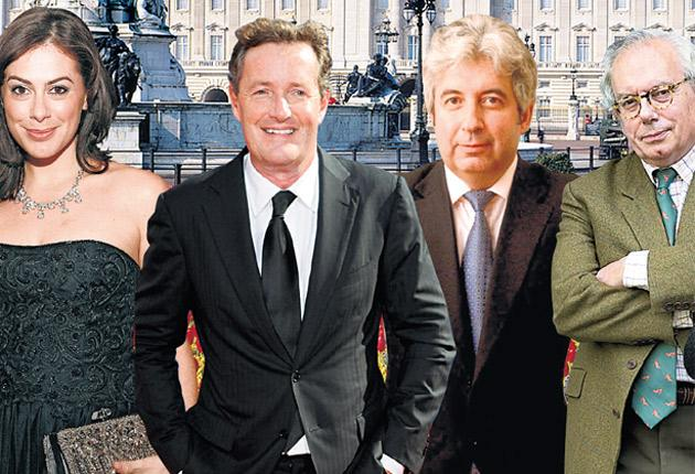 Kings and Queens of the networks: (from left) Katie Nicholl, Piers Morgan, Patrick Jephson and David Starkey