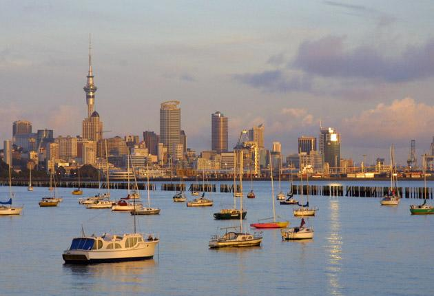 Safe Harbour: Auckland, New Zealand. A double taxation agreement with Britain means workers only pay tax in one country